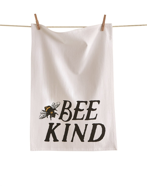 Bee Kind Flour Sack Dishtowel