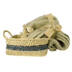 Mohair Throw & Basket Gift Set, 2 Piece
