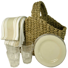 Picnic Basket Set for Four, 13 Piece