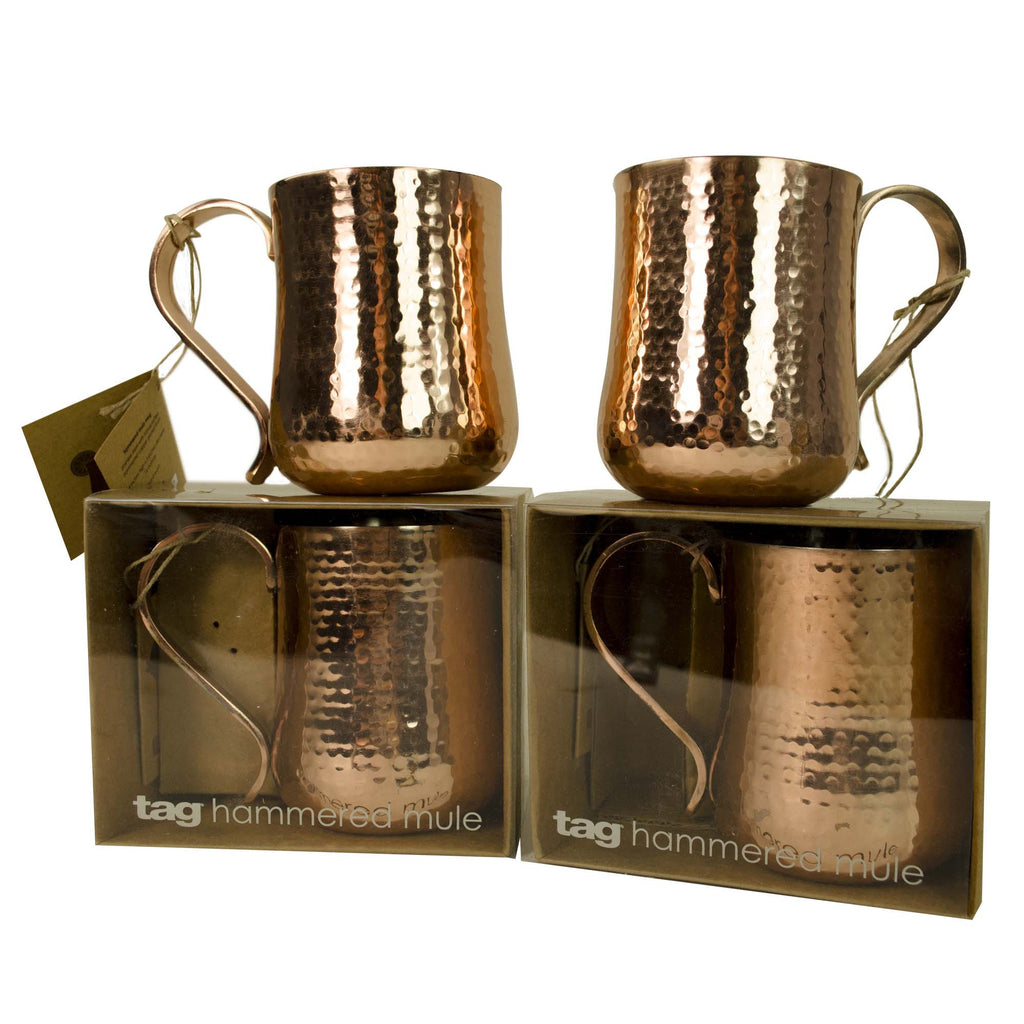 Copper Moscow Mule Mugs, Set of 4