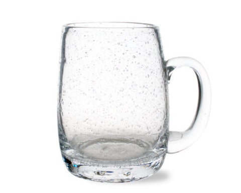Clear Bubble Glass Beer Mug -Tag