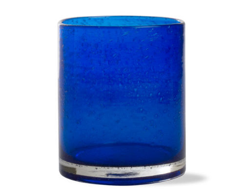 Indigo Cobalt Blue Double Old Fashioned -Tag