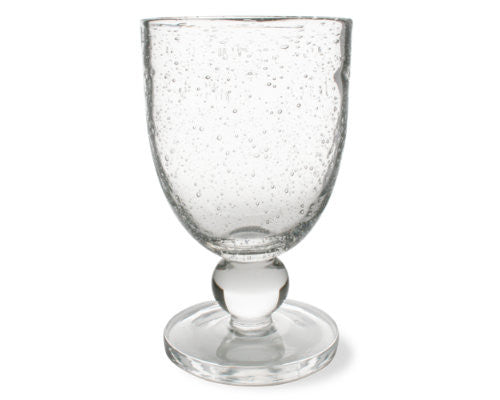 Clear Bubble Glass Goblet -Tag