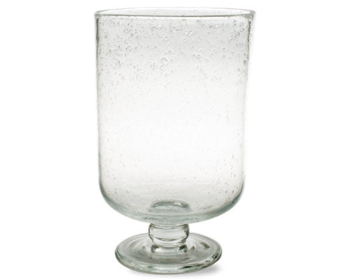 Clear Bubble Glass Medium Hurricane -Tag