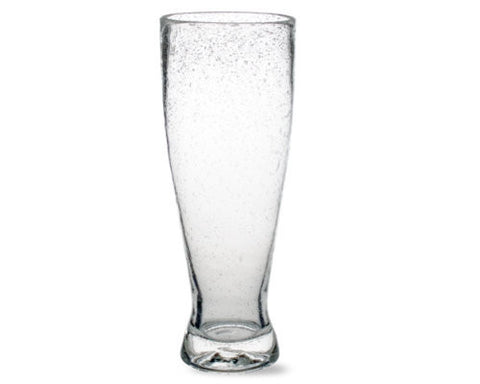Clear Bubble Glass Pilsner -Tag