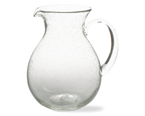 Clear Bubble Glass Pitcher -Tag