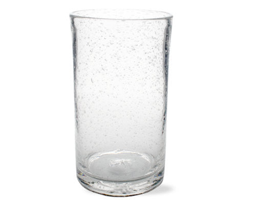 Clear Bubble Glass Tumbler -Tag