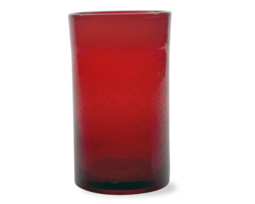 Red Bubble Glass Tumbler -Tag