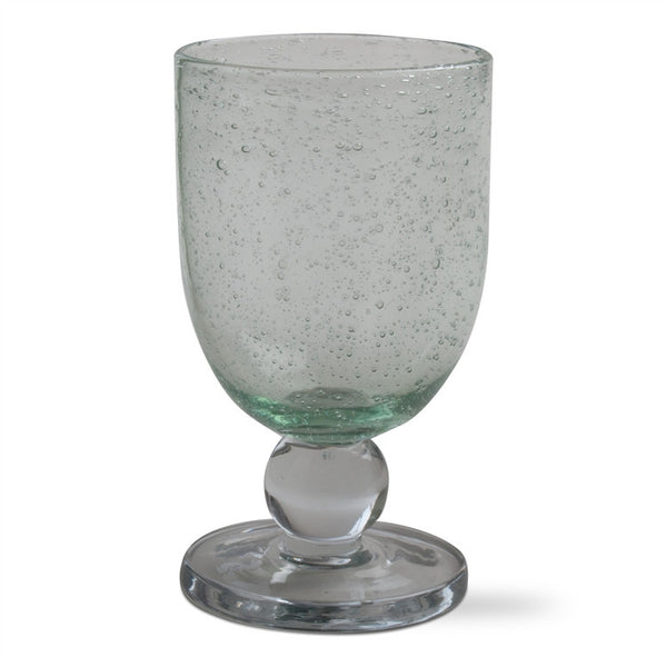 Celery Green Bubble Glass Goblets, Set of 6 - SAVE 10%