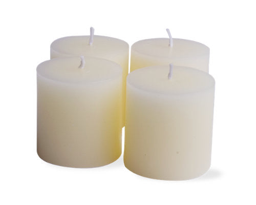"2"" x 2"" White Chapel Candles, Set of 4 -Tag"