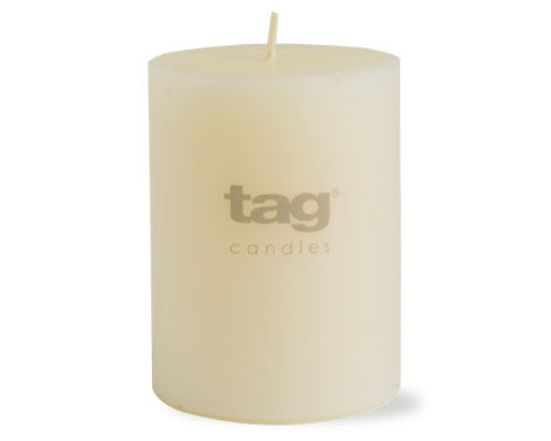 "3"" x 4"" Ivory Chapel Candle -Tag"