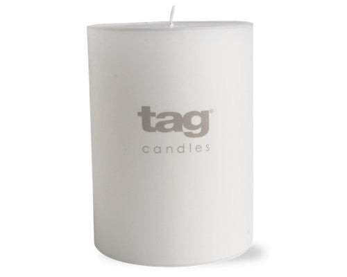 "3"" x 4"" White Chapel Candle -Tag"