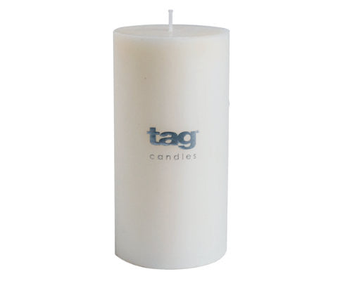 "3"" x 6"" White Chapel Candle -Tag"