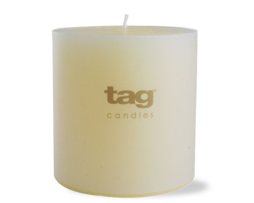 "4"" x 4"" Ivory Chapel Candle -Tag"