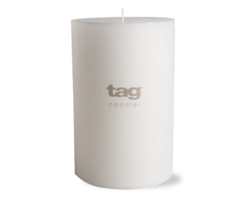 "4"" x 6"" White Chapel Candle -Tag"