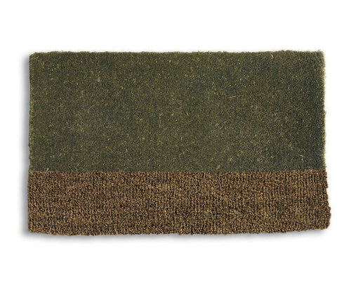 Two Tone Green Coir Mat -Tag