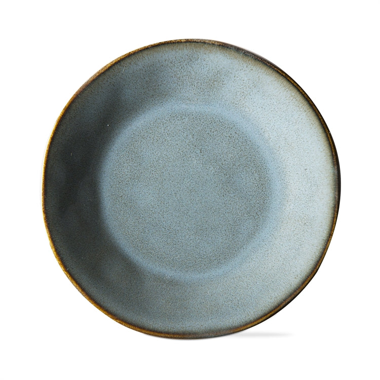 Soho Reactive Glaze Appetizer Plates, Turquoise, Set of 4