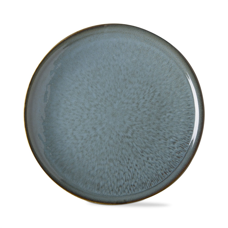 Soho Reactive Glaze Dinner Plates, Turquoise, Set of 4