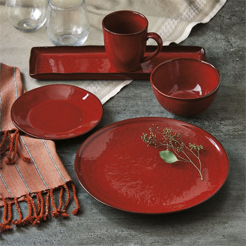 Soho Reactive Glaze Dinner Plates, Set of 4