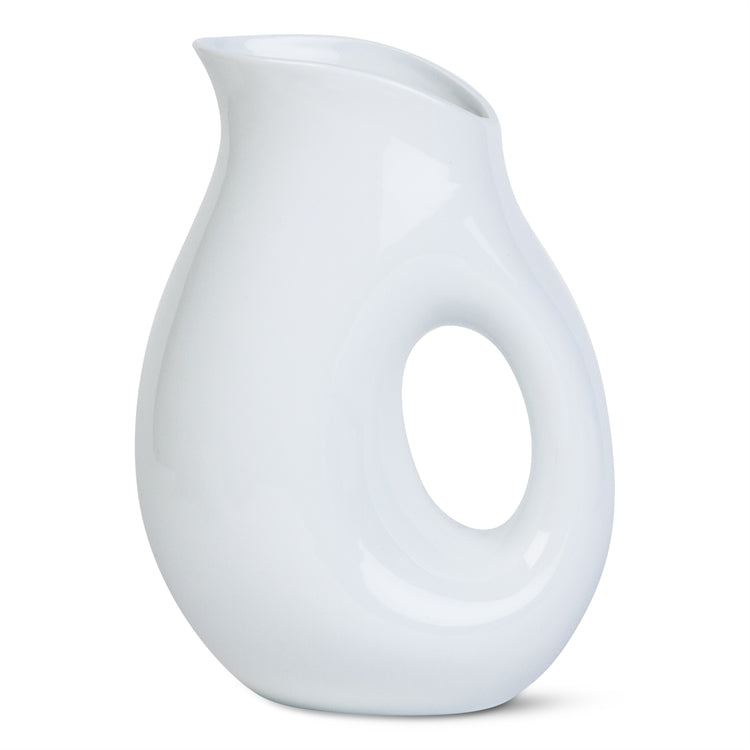 Large Whiteware Oval Pitcher