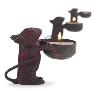 Garden Mouse Tealight Holder -Tag