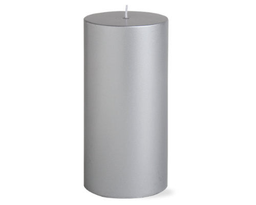 "3"" x 6"" Silver Color Candle -Tag"