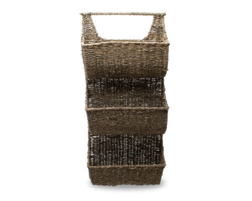 Seagrass 3-Part Wall Basket -Tag