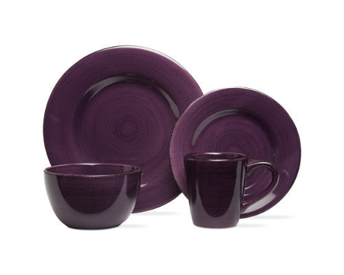 Purple Sonoma 4-Piece Place Setting -Tag