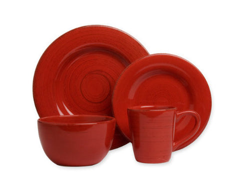Red Sonoma 4-Piece Place Setting -Tag