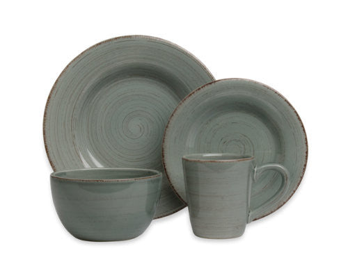 Slate Blue Sonoma 4-Piece Place Setting -Tag