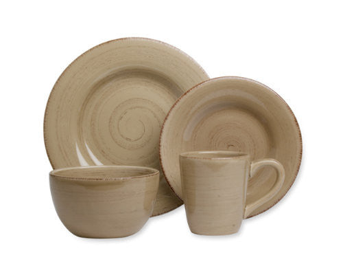 Tan Sonoma 4-Piece Place Setting -Tag
