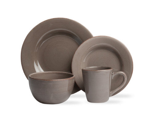 Warm Gray Sonoma 4-Piece Place Setting -Tag