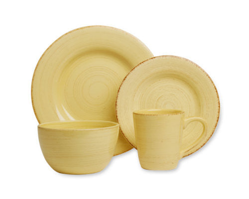 Yellow Sonoma 4-Piece Place Setting -Tag