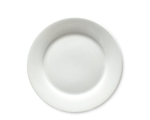 Whiteware Salad Plate -Tag