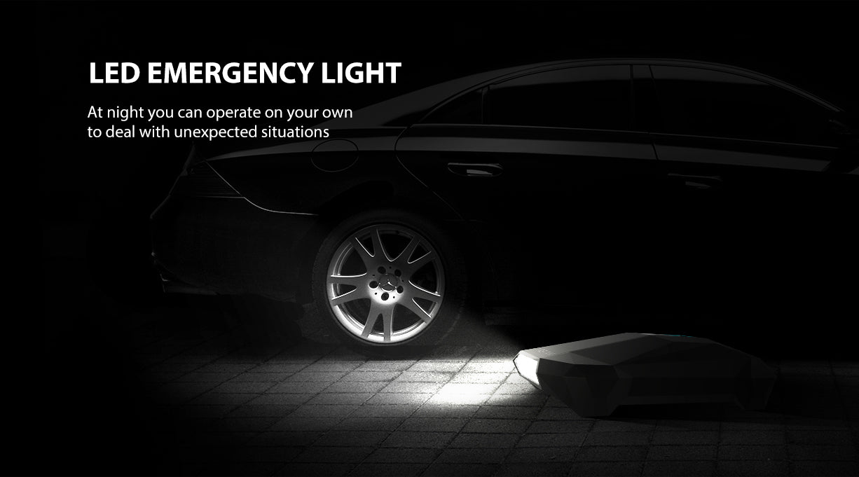 In addition to being an air pump, it can also be used for lighting. At night you can operate on your own to deal with unexpected situations.