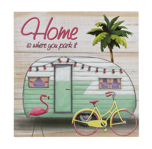"""Home Is Where You Park It"" Light Up Box Plaque"