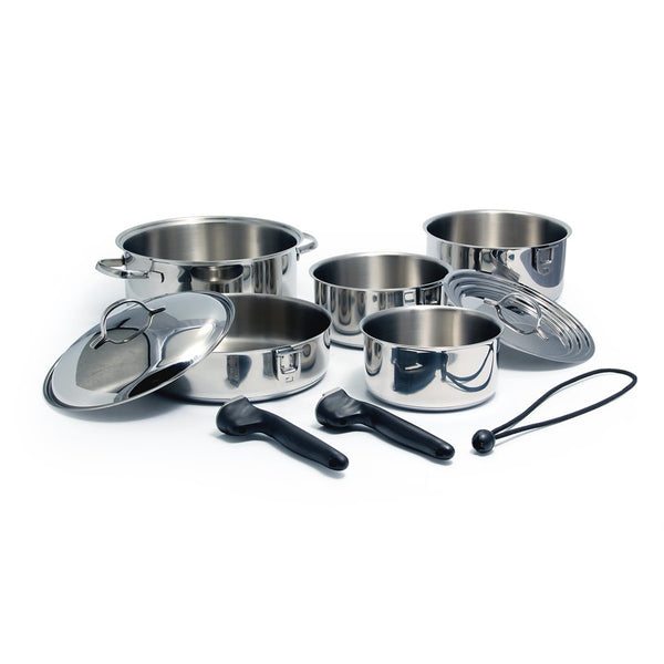 Camco 10 Piece Stainless Steel Ceramic Cookware