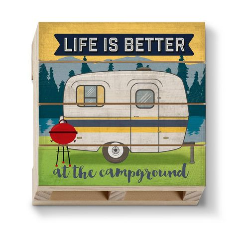 Better at the Campground Pallet Coaster