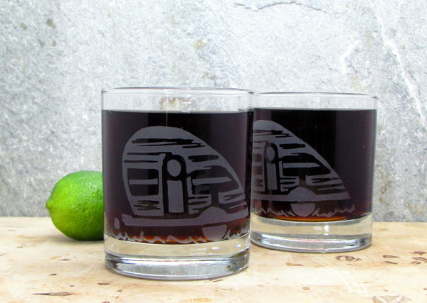 Trailer Etched Glassware