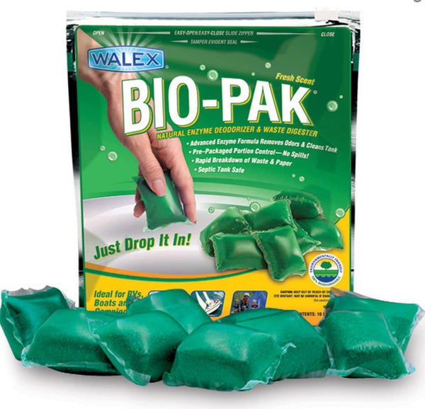 Bio-Pak Natural Enzyme Deodorizer, and Paper and Waste Digester