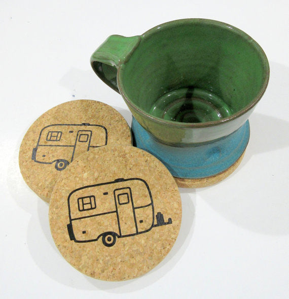 Fiberglass Trailer Cork Coasters