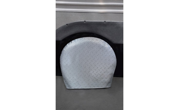 ADCO Diamond Plated Tyre Gards - Single Tire Cover
