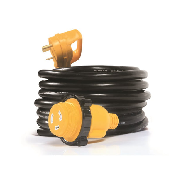 Camco 30 Amp Power Grip 25' Extension Cord