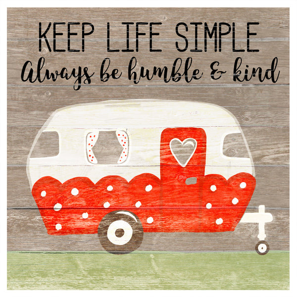 """Keep Life Simple"" Wood Wall Plaque"