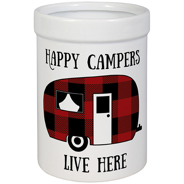 """Happy Campers"" Utensil Crock"