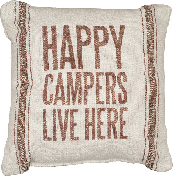 Happy Campers Live Here Pillow