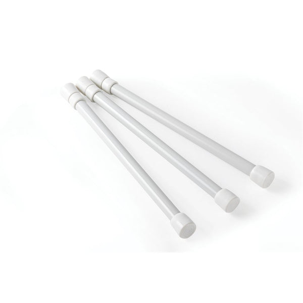 Camco 3 Pack White Cupboard Bar