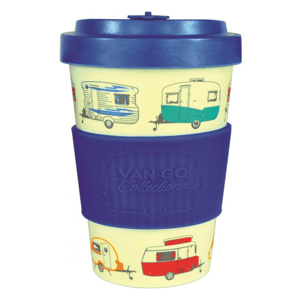 Blue Bamboo Travel Mug