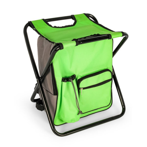 Camco Camping Stool Backpack Cooler (Green)