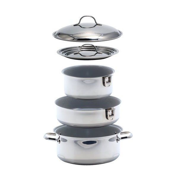 Camco 7 Piece Nesting Ceramic Cookware